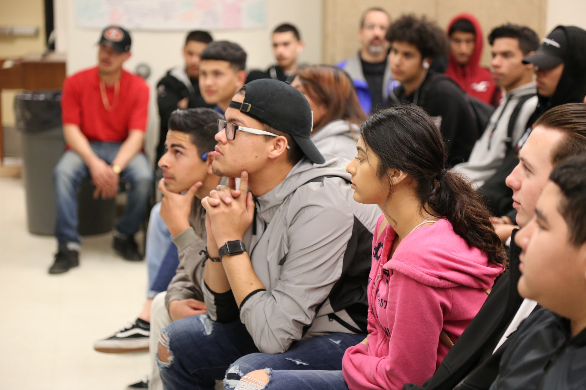 Students Paying attention during Blake Brandes Assembly