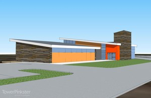 Architectural drawing of the proposed Early Childhood Center.