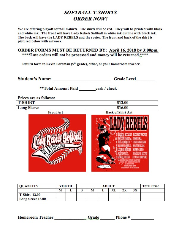 Softball Playoffs Shirt Order