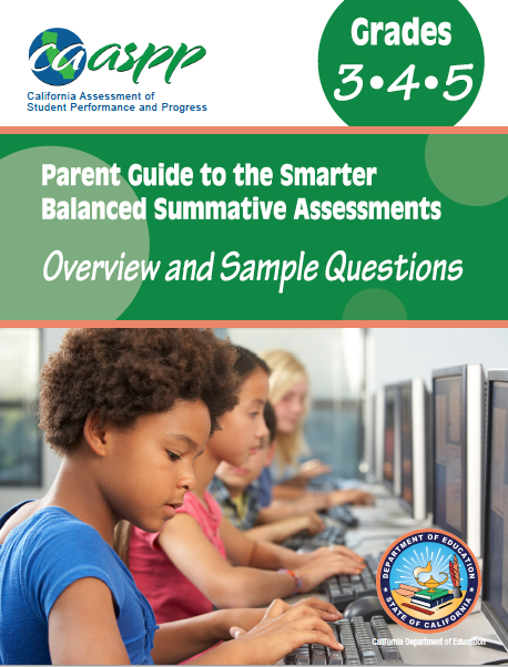 Sample cover of CAASPP parent guide.