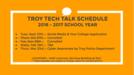 Troy tech talk sign