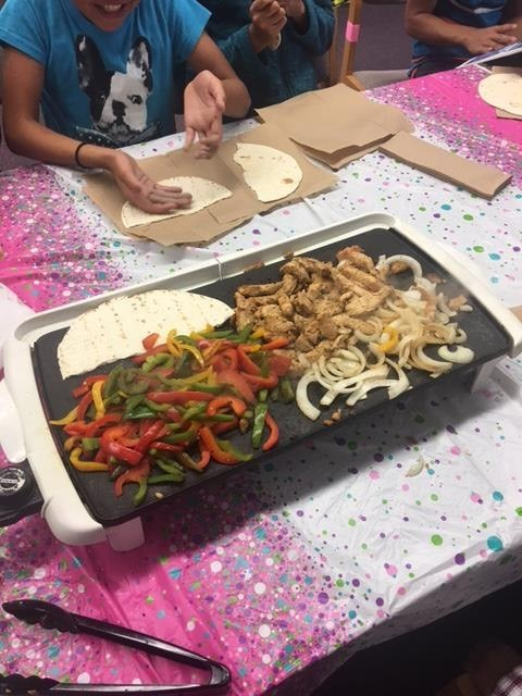 Summer School Cooking Class Center.The kids loved it!