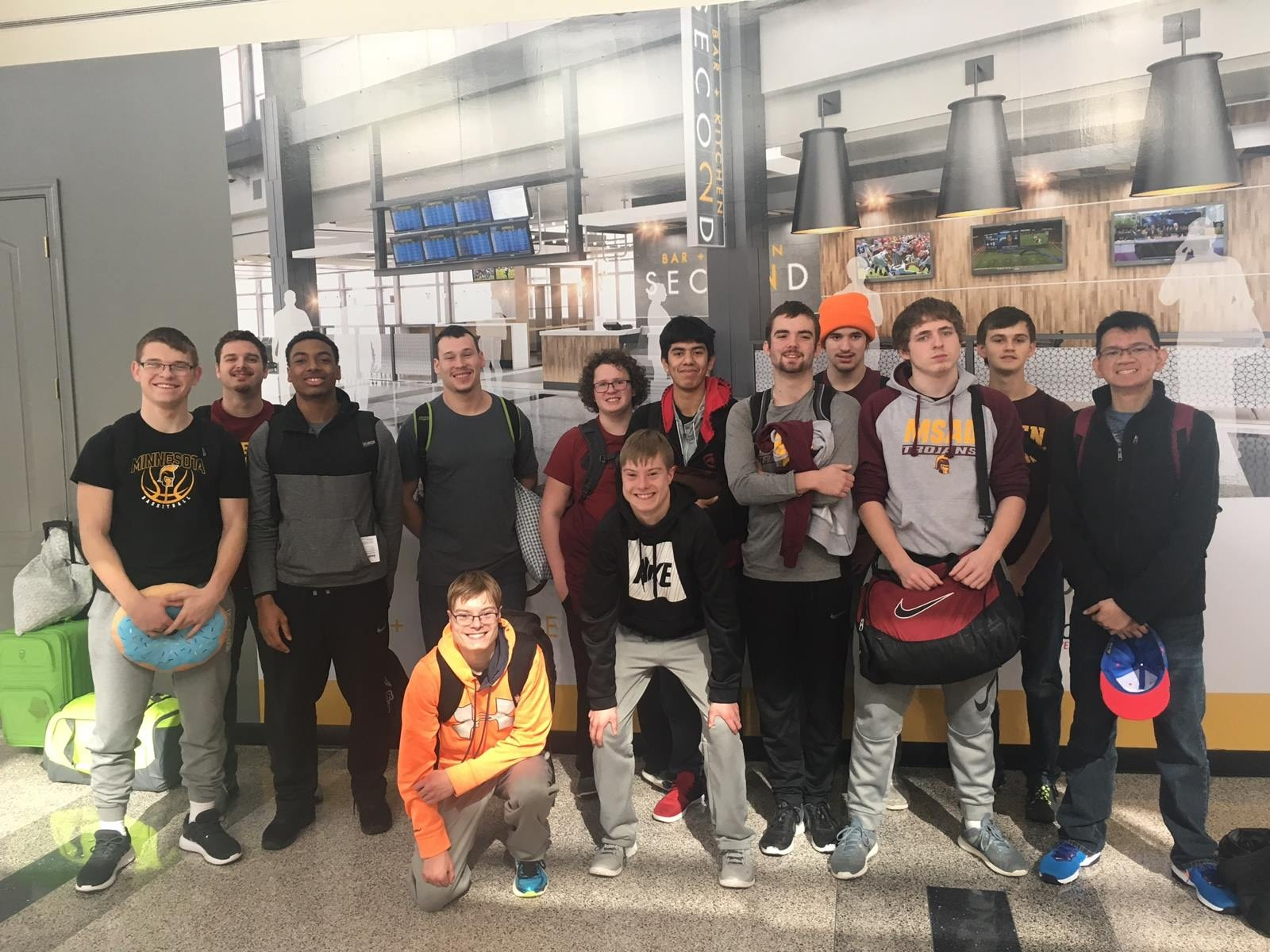 basketball team traveling to texas