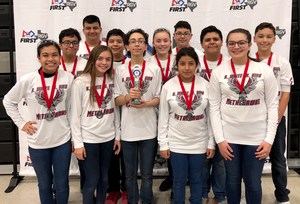 MetalHawks-Bravo team members are: Jorge Salinas (Captain), Anthony Flores, Gabriel Cordova, Jordan Hernandez, Ismael Alvarado, Danilee Alaniz, Steven Ramirez, Bailey Hernandez, Marc Gonzalez, Alinah Hernandez, Brenda Jaimez, and Jesus Barrientos. Both teams are coached by Mr. J. Sanchez, Ms. S. Silva, and Mr. A. Chapa.