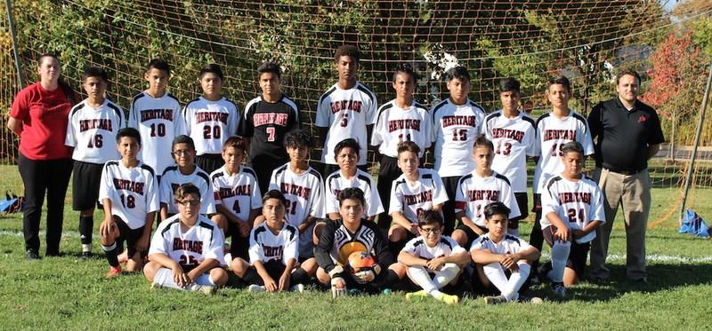 Heritage Boys Soccer Team Wins CVC Championship Thumbnail Image