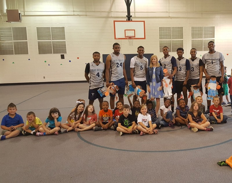 TCHS Basketball Players Speak to Kindergarten Students Featured Photo