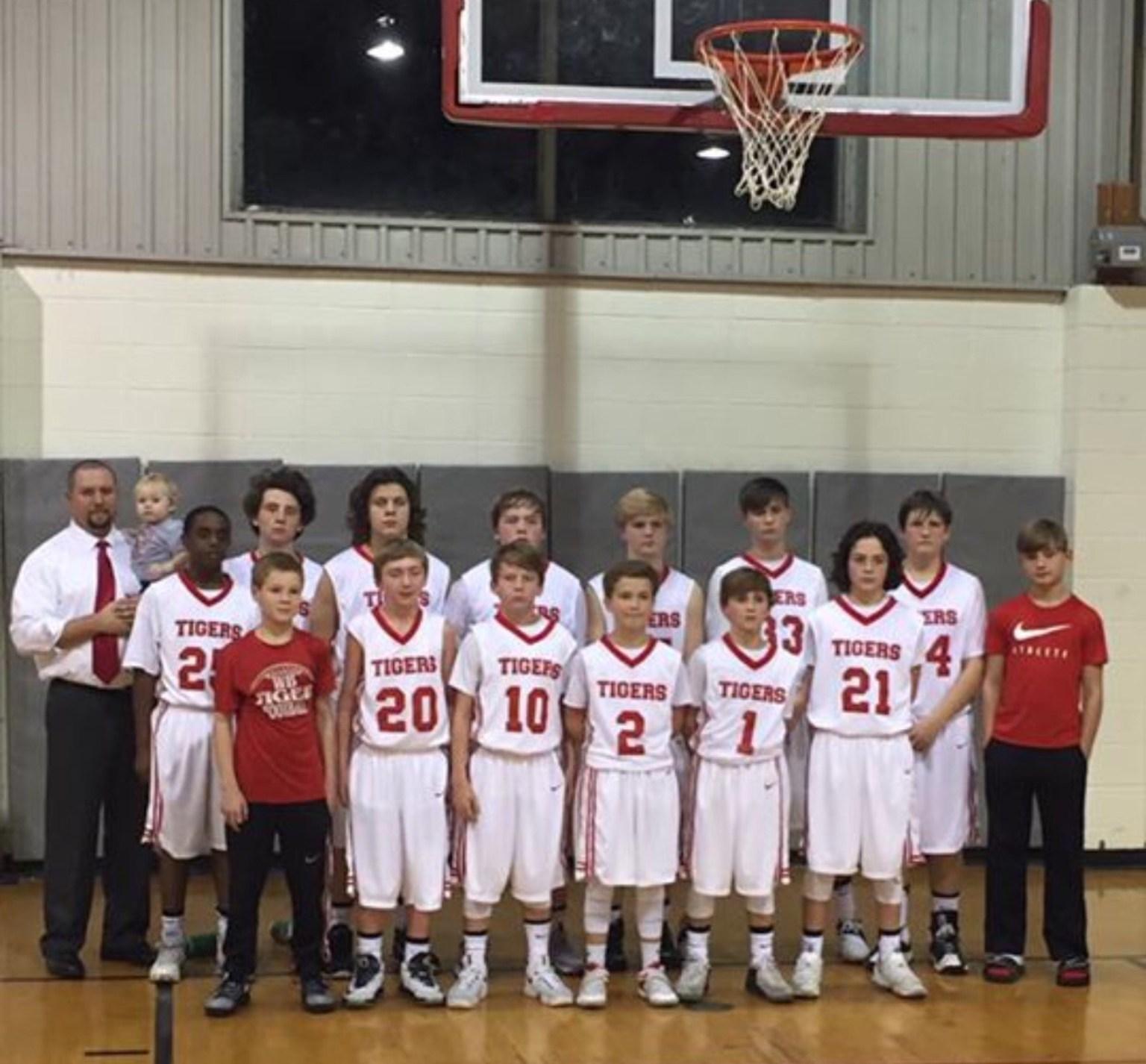 WBMS 2016-17 Boys Basketball team