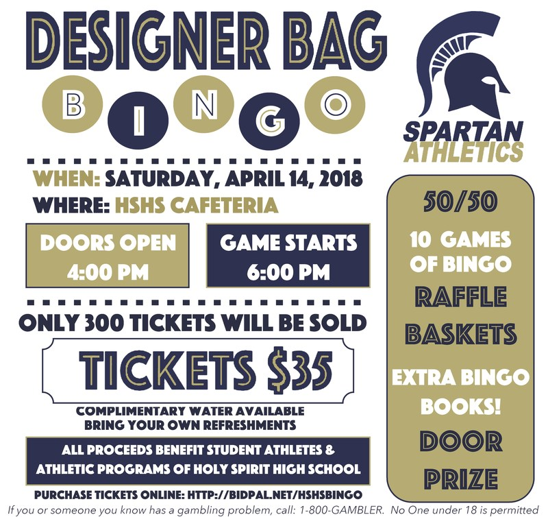 Designer Bag Bingo! Hosted by the HSHS Athletic Department Featured Photo
