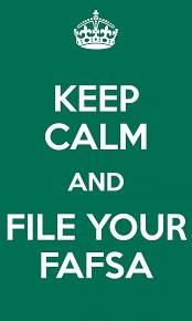 Keep Calm and FAFSA