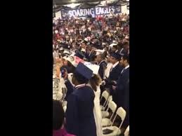 Union City High School Graduates Standing for the Pledge of Alliegeance