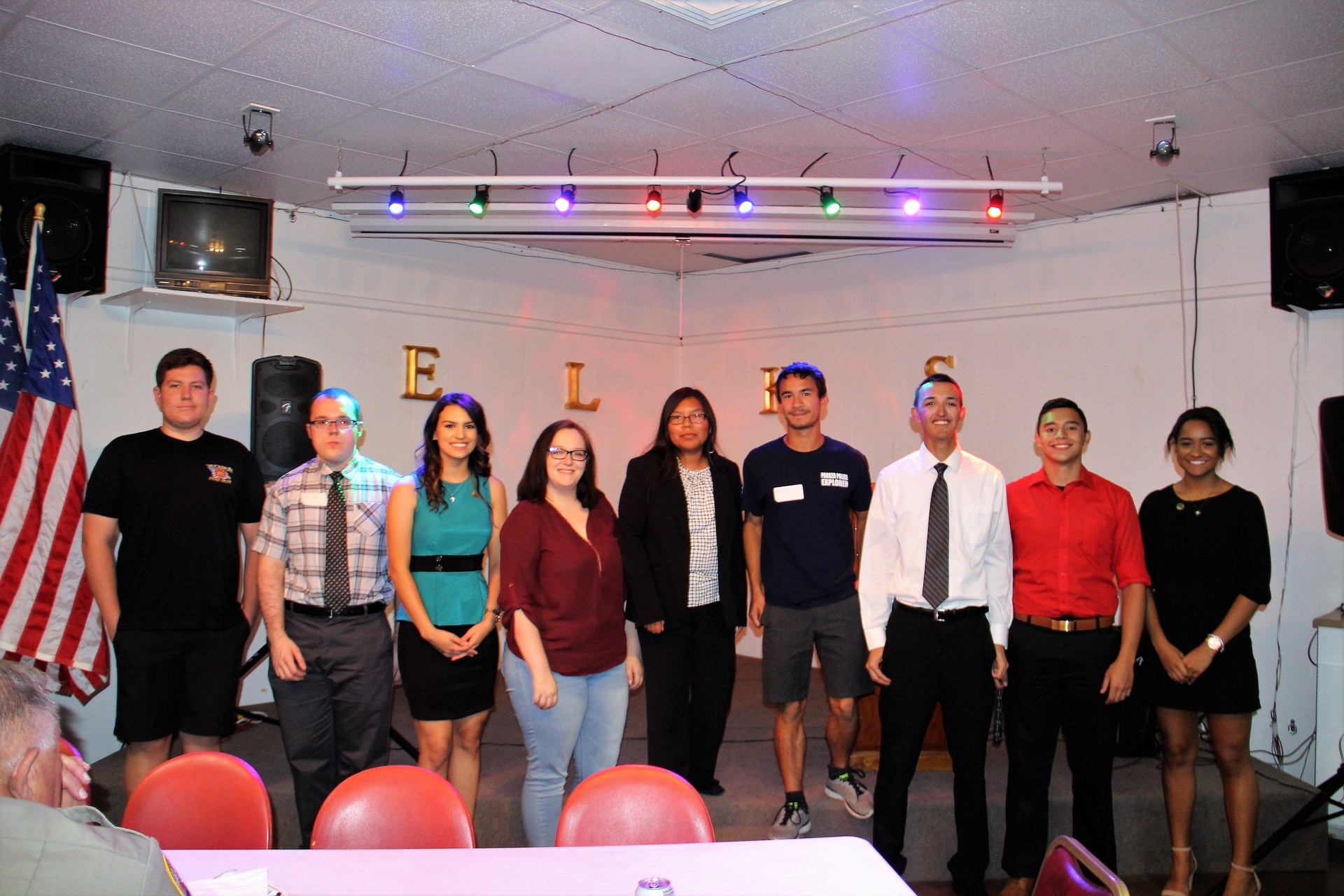 High school students at Elks Lodge Scholarship