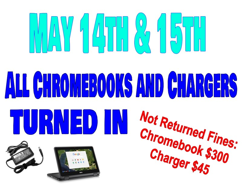 Chromebook Turn in May 14 & 15 Featured Photo