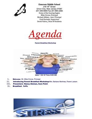 Breakfast Workshop Agenda