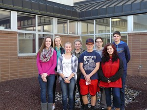 Photograph of CHS October Students of the Month