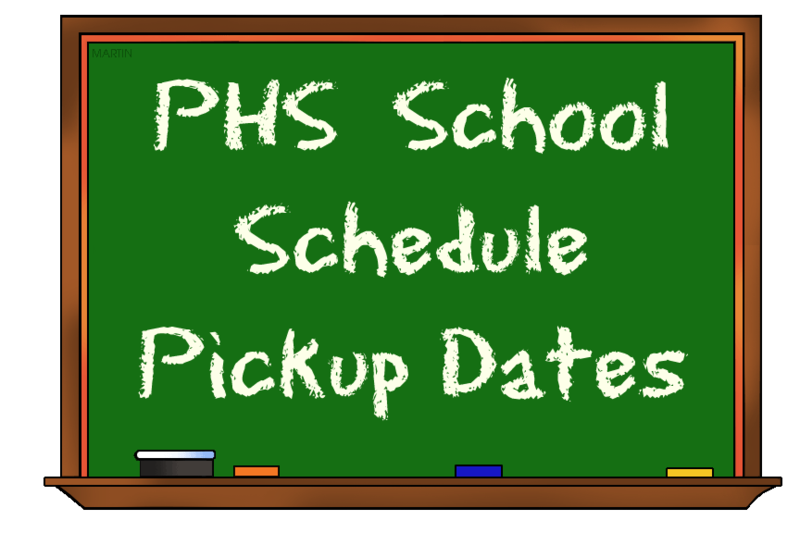 PHS Schedule Pickup Days Featured Photo