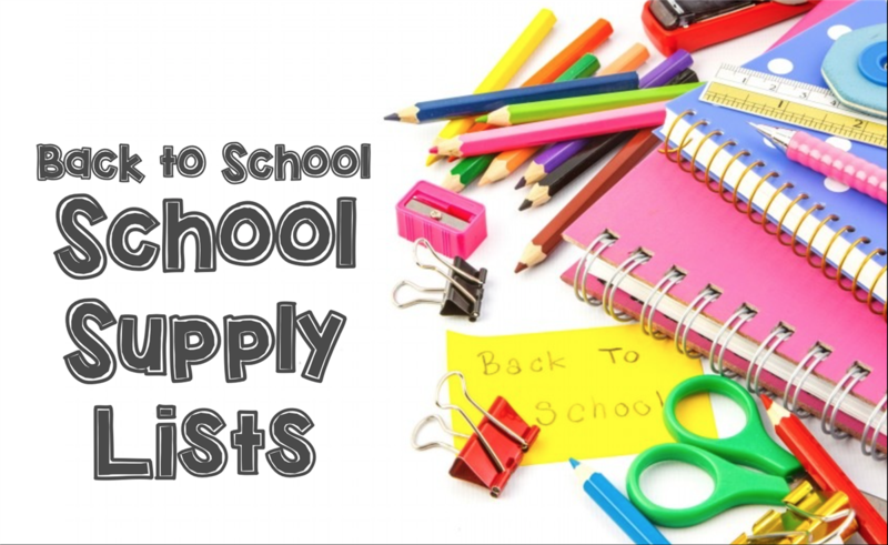 2018 19 School Supply List Click Here