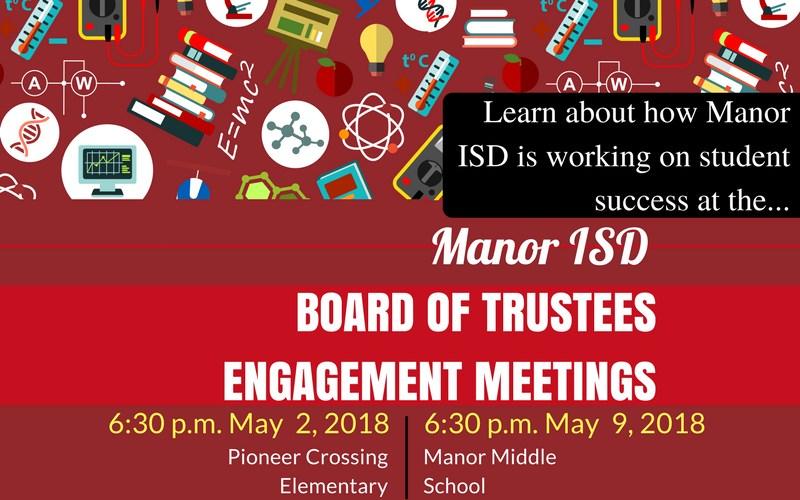 Manor ISD Board of Trustees to Host Engagement Meetings/ Copia de reuniones de éxito estudiantil Thumbnail Image