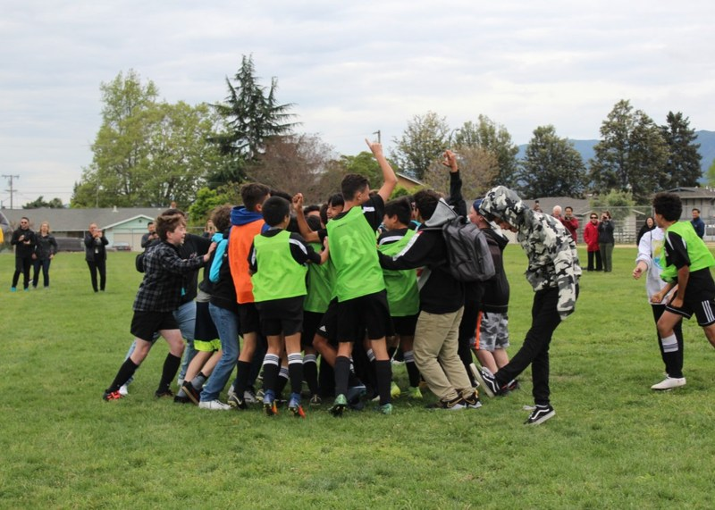 Moreland Middle School Boys' Soccer Teams Win League Championship Thumbnail Image