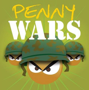 pennies in army hats and text that says