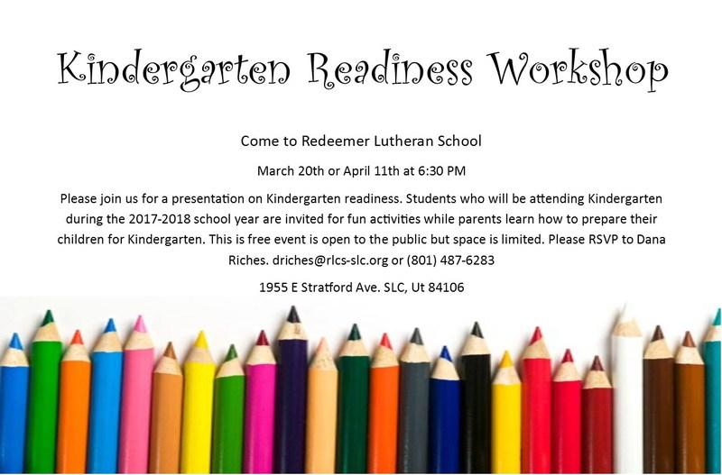 Kindergarten Readiness Workshop Thumbnail Image
