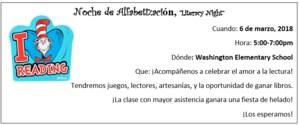 Literacy Night Spanish Flyer