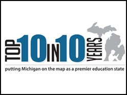 Michigan Department of Education 10 in 10 logo