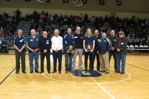 Several past hall of fame winners joined Tommy and Kelsey during the induction ceremony.