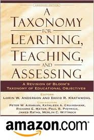 Book Reference: Taxonomy for Learning, Teaching and Assessing