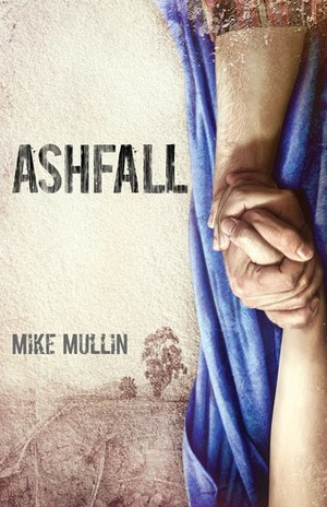 The cover of the novel, Ashfall.
