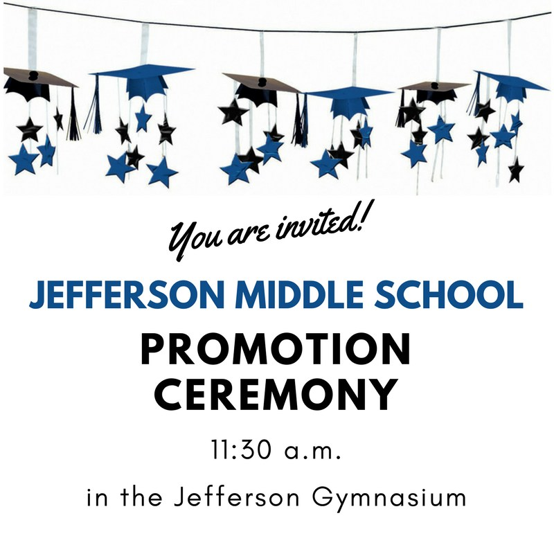 8th Grade Promotion Ceremony Today! Thumbnail Image