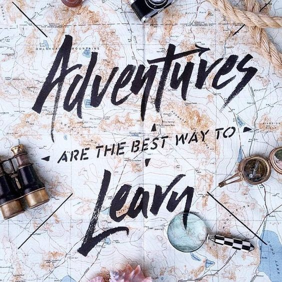 Adventure is the best way to learn poster.