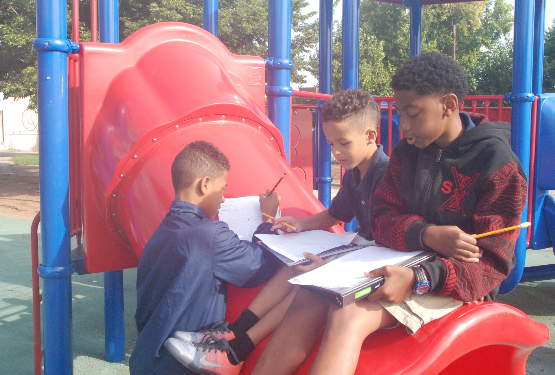Creative writing on playground