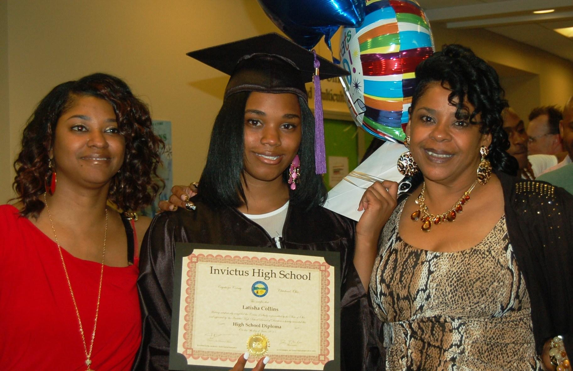 Invictus High School Cleveland, Ohio Graduation Diploma