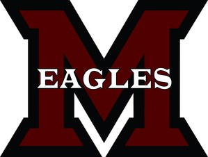 Maroon M with Eagles