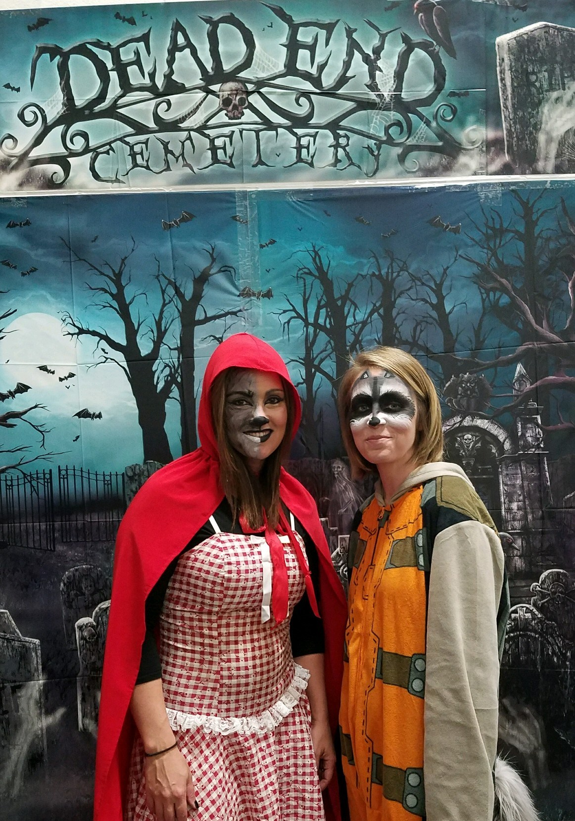 Mrs. Pratt and Mrs. Furney dressed up for the 2017 Halloween Festival of the Forgotten