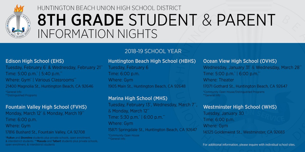8th Grade Student & Parent Information Night