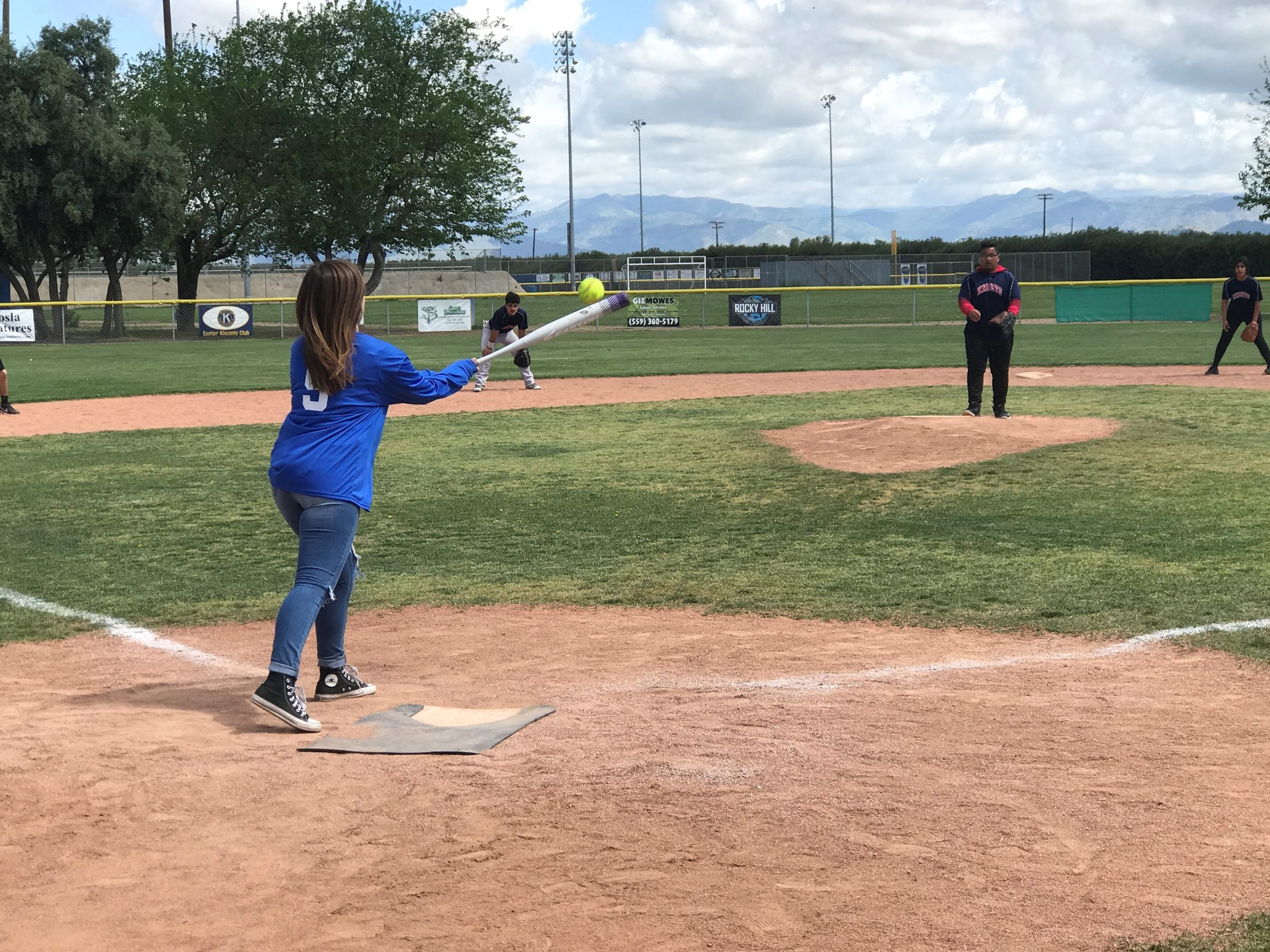 Female Athlete at Bat