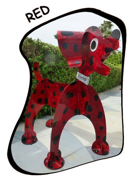 Red - The Hero In You Foundation mascot