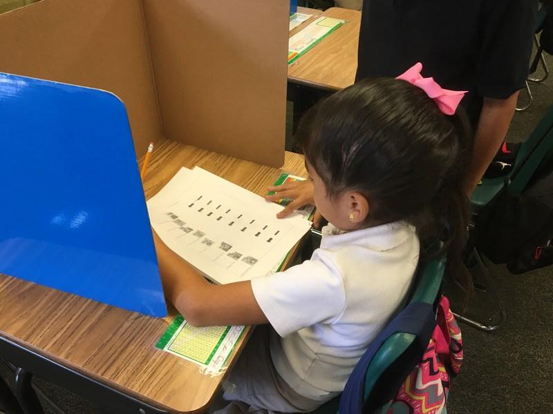 Isabella Lemus casting her vote!