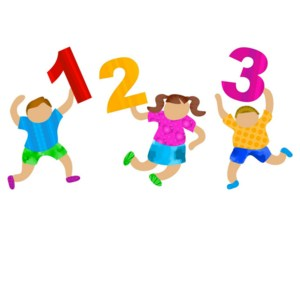 Cartoon Kids and Numbers