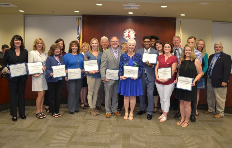 Teachers of the Year recognized by the Governing Board