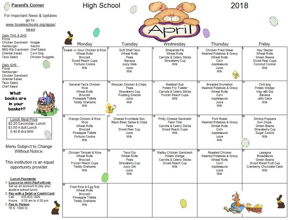 April High School Lunch