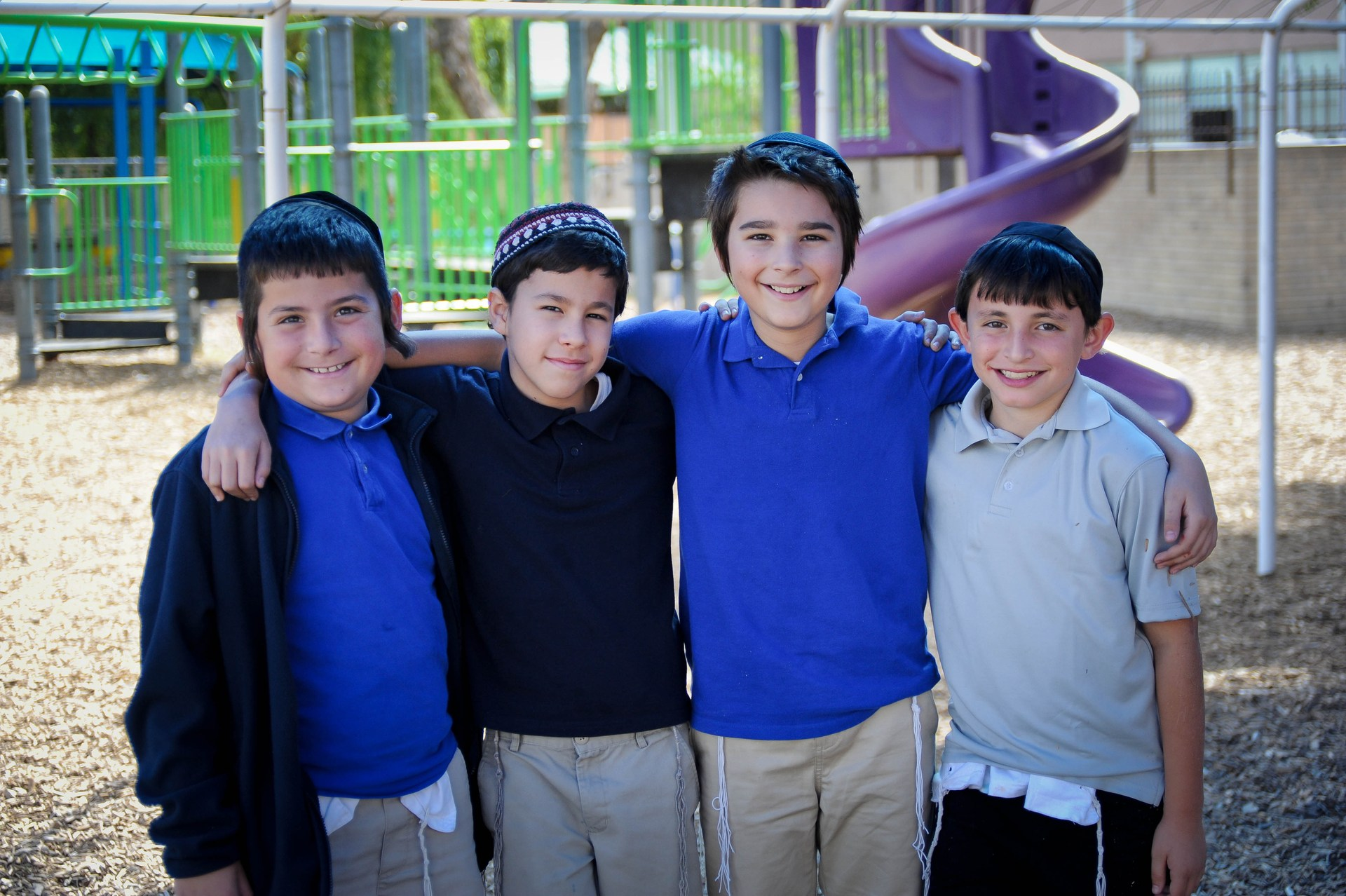 boys smiling on playground