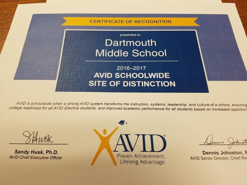 AVID School of Distinction Award