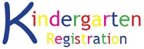 Graphic says Kindergarten Registration