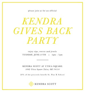 St. Pius X School Kendra Gives Back Invite.jpg