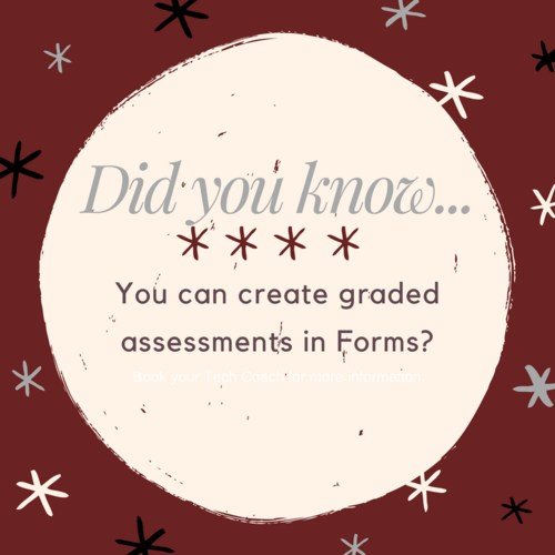 Use forms to create assessments