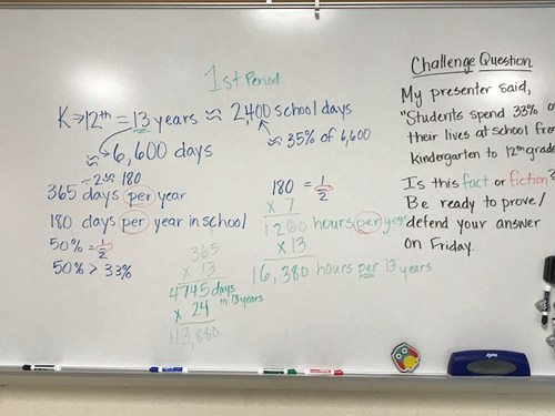 This is the work our class compiled about the Challenge Question.