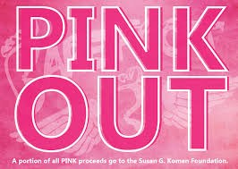 Pink out in pink letters