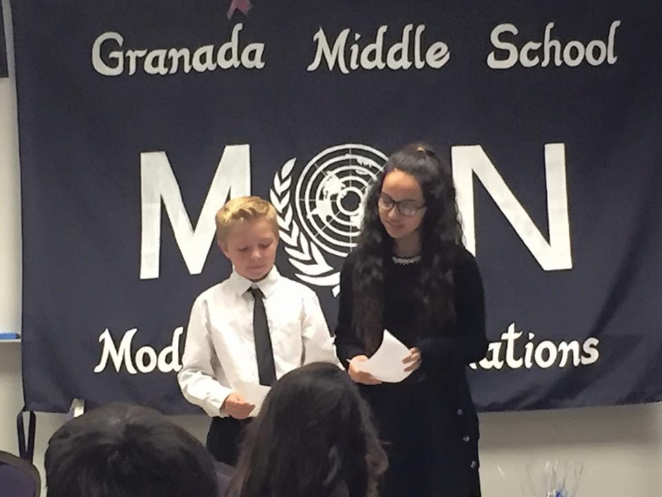 Granada Middle School students